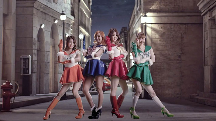 SISTAR's Sailor Moon Cosplay